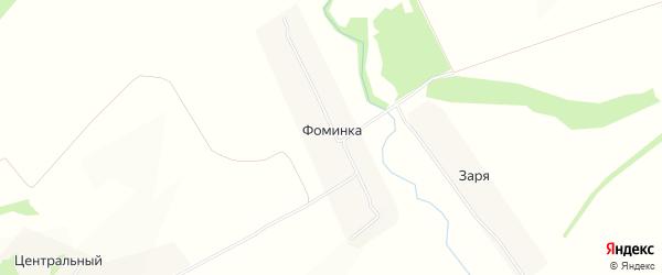 Карта деревни Фоминки в Тульской области с улицами и номерами домов