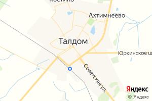 Карта г. Талдом Московская область