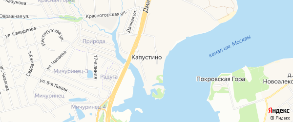 Карта деревни Капустино города Мытищи в Московской области с улицами и номерами домов