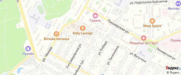 Зеленый проезд на карте Подольска с номерами домов