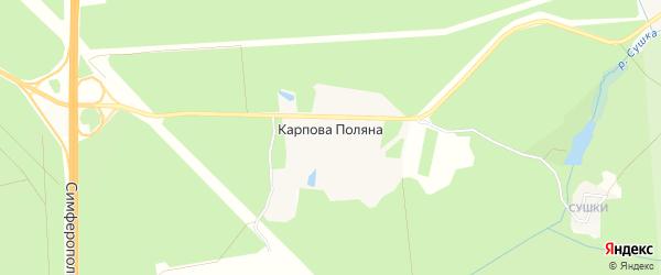 Карта местечка Карповой Поляны в Московской области с улицами и номерами домов