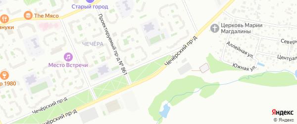 Чечёрский проезд на карте Москвы с номерами домов