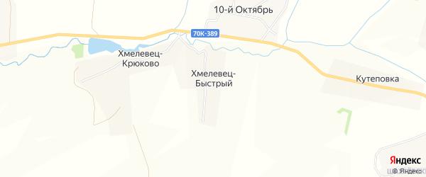 Карта деревни Хмелевца-Быстрого в Тульской области с улицами и номерами домов