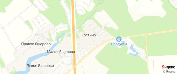 Карта деревни Костино в Московской области с улицами и номерами домов