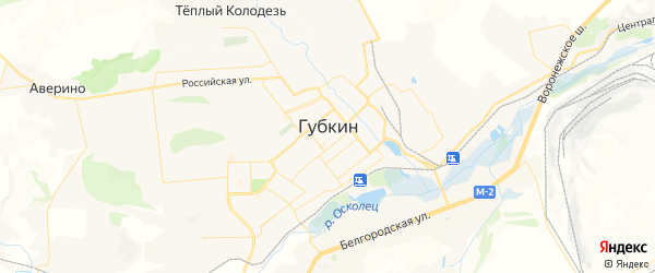 Карта Губкина с районами, улицами и номерами домов