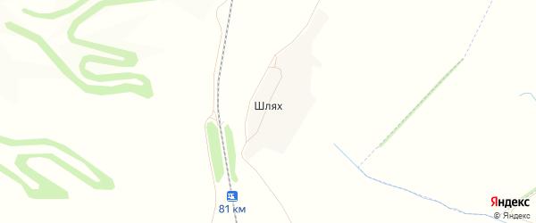 Карта деревни Шляха в Орловской области с улицами и номерами домов