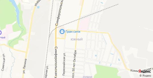Карта поселка Южный в Климовске с улицами, домами и почтовыми отделениями со спутника онлайн