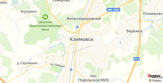 Карта Климовска с улицами и домами подробная. Показать со спутника номера домов онлайн