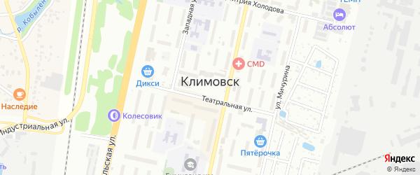Территория ЖСК Машиностроитель на карте Климовска с номерами домов