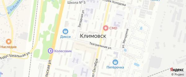 Территория ГСК-16 А на карте Климовска с номерами домов