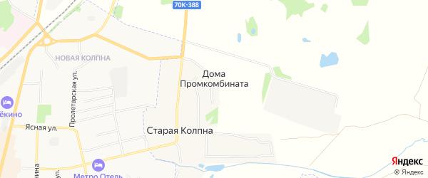 Карта поселка Дома Промкомбината в Тульской области с улицами и номерами домов