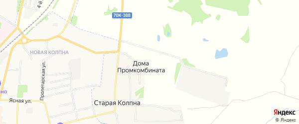 Карта садового некоммерческого товарищества Шахтер (Тулауголь д. Ст. Колпна) в Тульской области с улицами и номерами домов