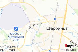 Карта г. Щербинка Московская область