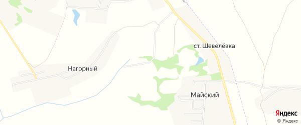 Карта садового некоммерческого товарищества Майского в Тульской области с улицами и номерами домов