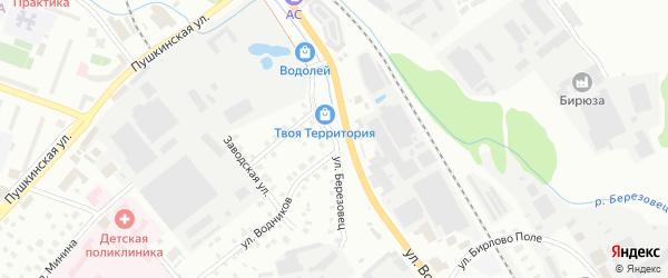Улица Березовец на карте Дмитрова с номерами домов