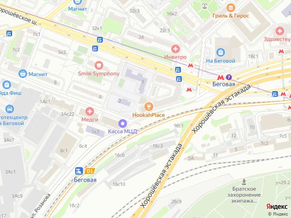 Карта москвы хорошевское шоссе 32а
