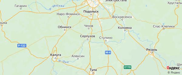 Карта Серпуховского района Московской области с городами и населенными пунктами