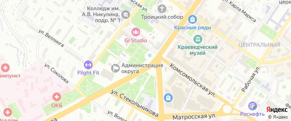 Территория ЖСК Челнок на карте Подольска с номерами домов