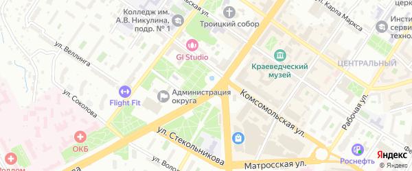 Территория ТСЖ-50 на карте Подольска с номерами домов