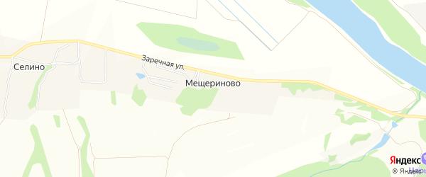 Карта деревни Мещериново в Московской области с улицами и номерами домов