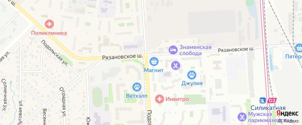 Территория МЖК ЖСК на карте Подольска с номерами домов