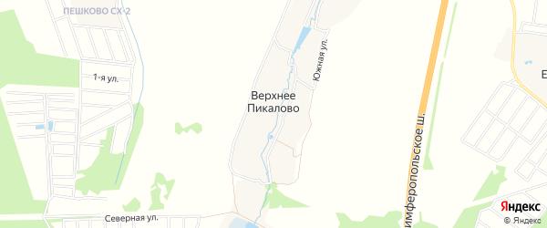 Карта деревни Верхнего Пикалово города Чехов в Московской области с улицами и номерами домов