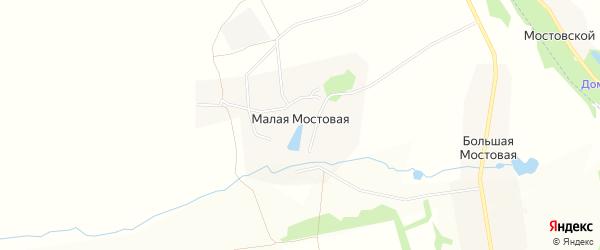 Карта Малой Мостовой деревни в Тульской области с улицами и номерами домов