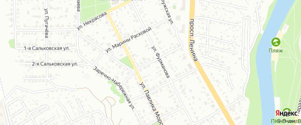 Строительная улица на карте Подольска с номерами домов