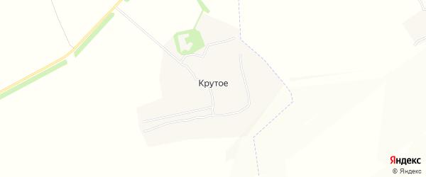 Карта деревни Крутого в Тульской области с улицами и номерами домов