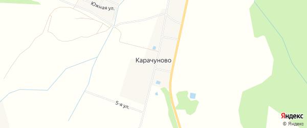 Карта деревни Карачуново в Московской области с улицами и номерами домов