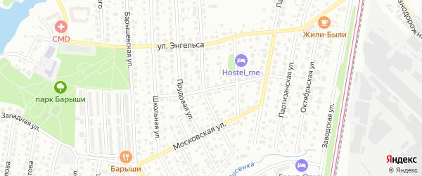 Улица Дзержинского на карте Щербинки с номерами домов