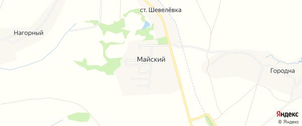 Территория СНТ Горняк на карте Майского поселка Тульской области с номерами домов