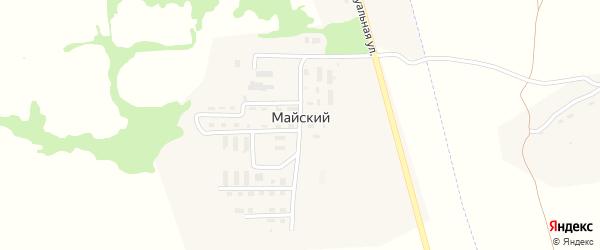 Индивидуальная улица на карте Майского поселка Тульской области с номерами домов