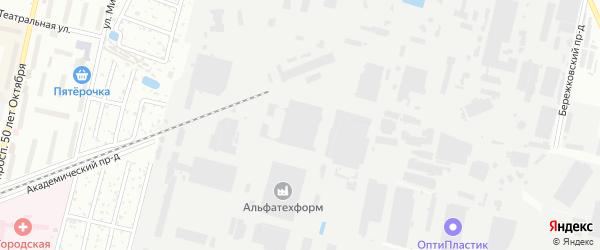 Территория ГСК-6/8 на карте Климовска с номерами домов