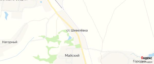 Карта станции Шевелевки в Тульской области с улицами и номерами домов
