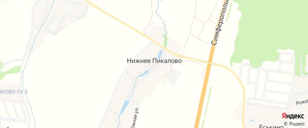 Карта деревни Нижнего Пикалово города Чехов в Московской области с улицами и номерами домов