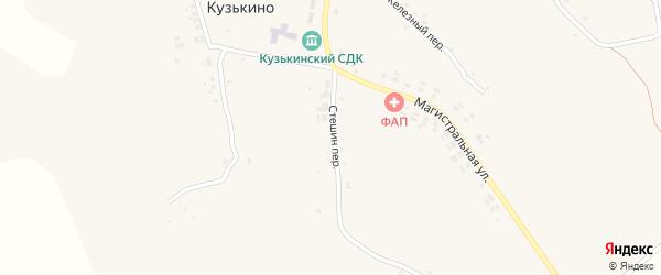 Переулок Стешин на карте села Верхнего Кузькина с номерами домов