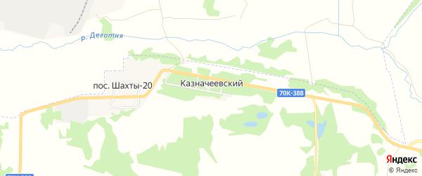 Карта Казначеевского поселка в Тульской области с улицами и номерами домов