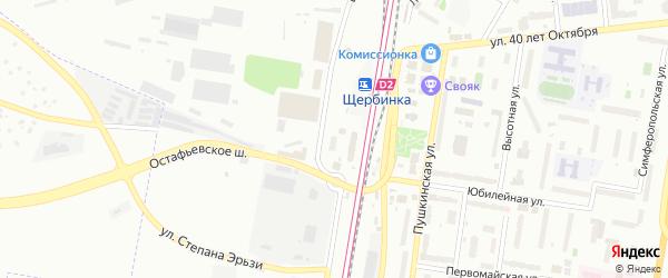 Территория ТСЖ НО Виктория на карте Щербинки с номерами домов