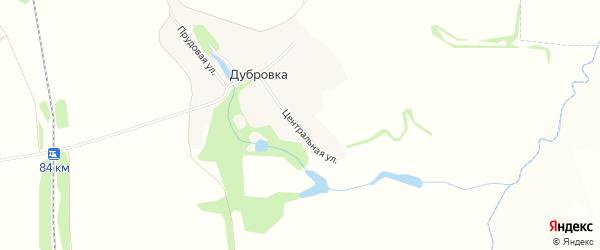 Карта деревни Дубровки в Орловской области с улицами и номерами домов