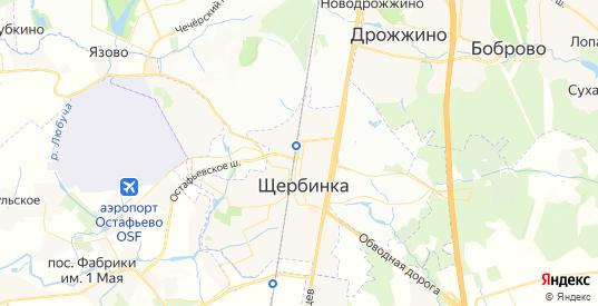 Карта Щербинки с улицами и домами подробная. Показать со спутника номера домов онлайн