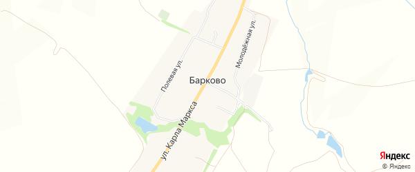 Карта деревни Барково в Орловской области с улицами и номерами домов