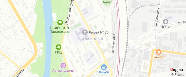 Территория ГСК Парковый на карте Подольска с номерами домов