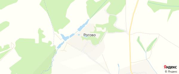 Карта деревни Рогово в Московской области с улицами и номерами домов