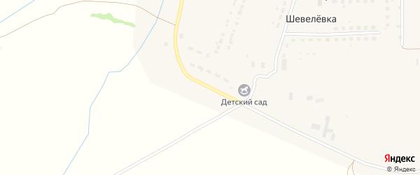 Центральная улица на карте деревни Шевелевки Тульской области с номерами домов