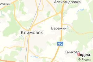 Карта г. Климовск Московская область