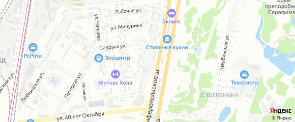 Улица Мостотреста на карте Щербинки с номерами домов