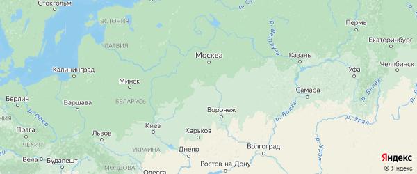 Карта Тульской области с городами и районами