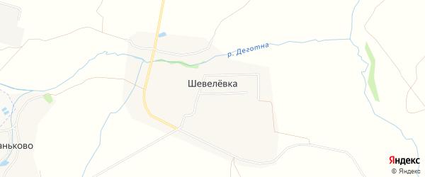 Карта деревни Шевелевки в Тульской области с улицами и номерами домов