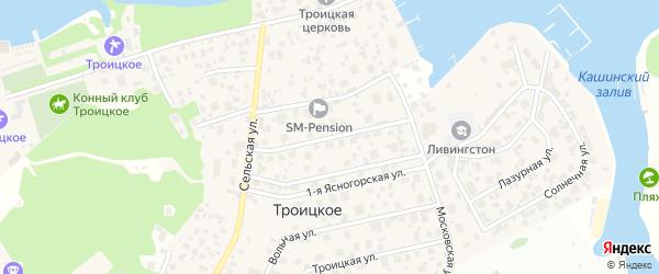 Клязьминская улица на карте Троицкого села с номерами домов